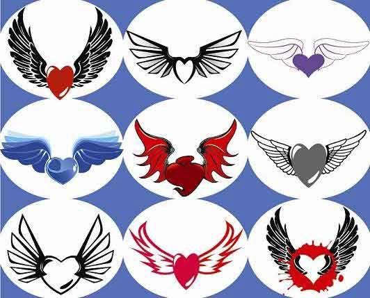 Imagenes de graffitis de corazones con alas  Imagui  ideas para