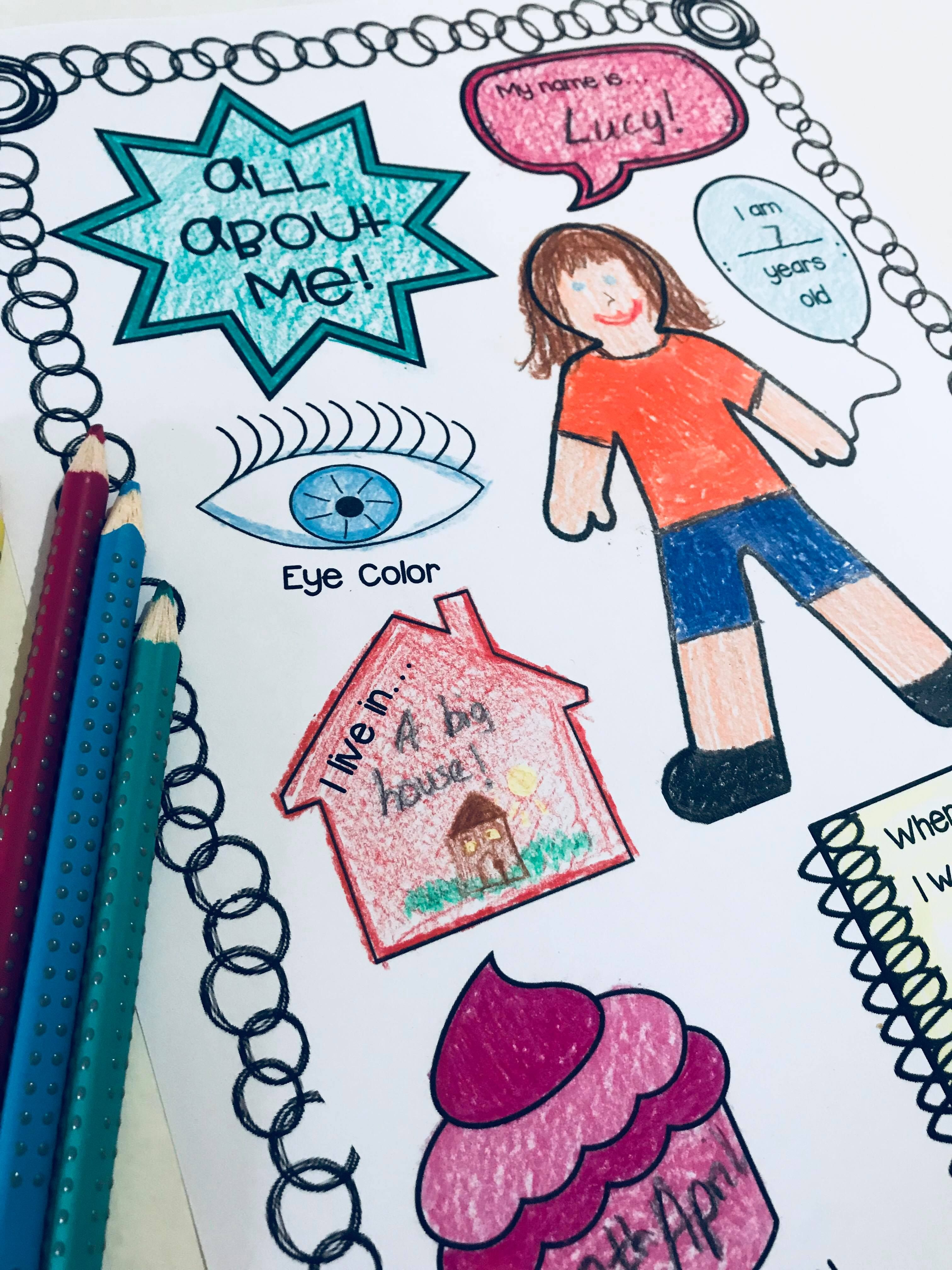 Back To School Worksheets For The First Week