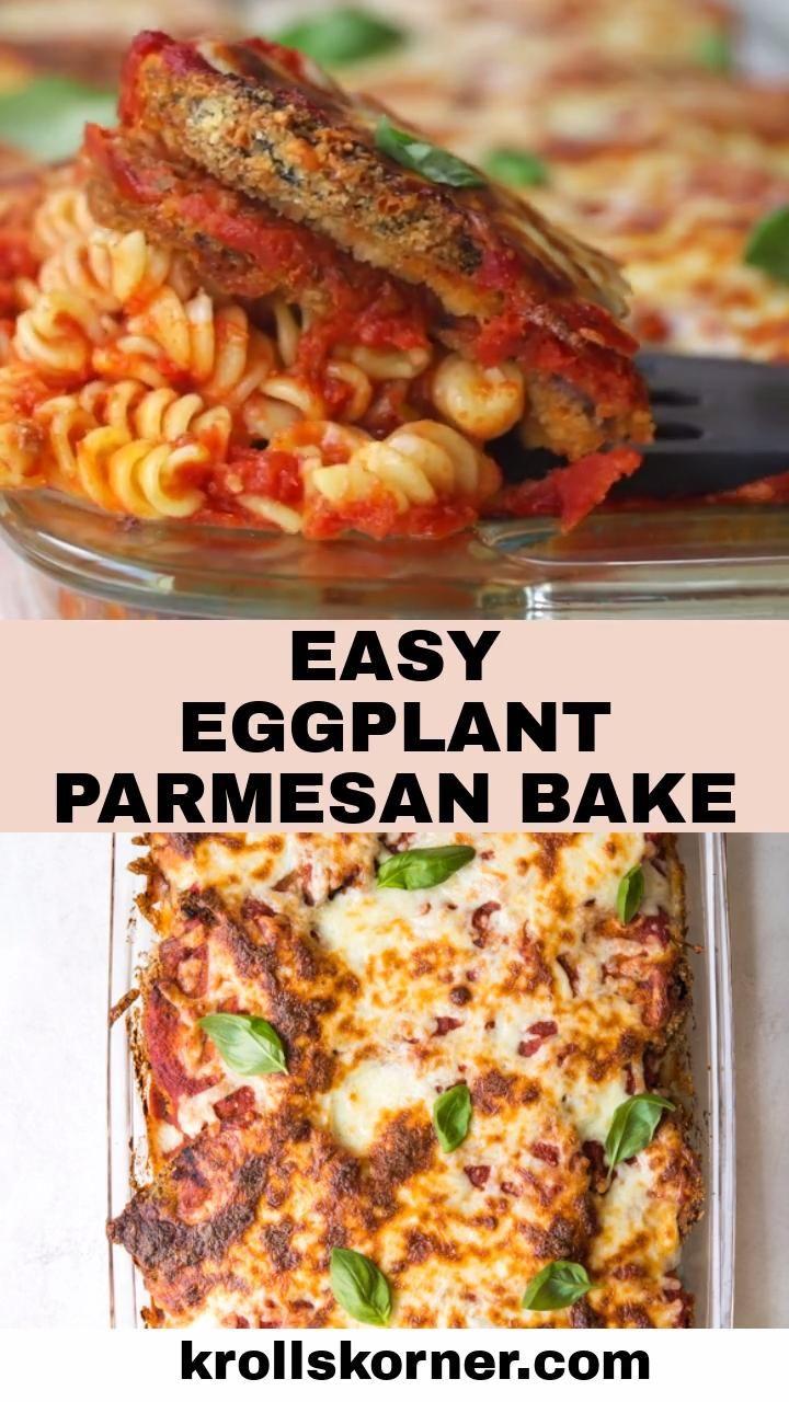 Eggplant Parmesan Bake (VIDEO)