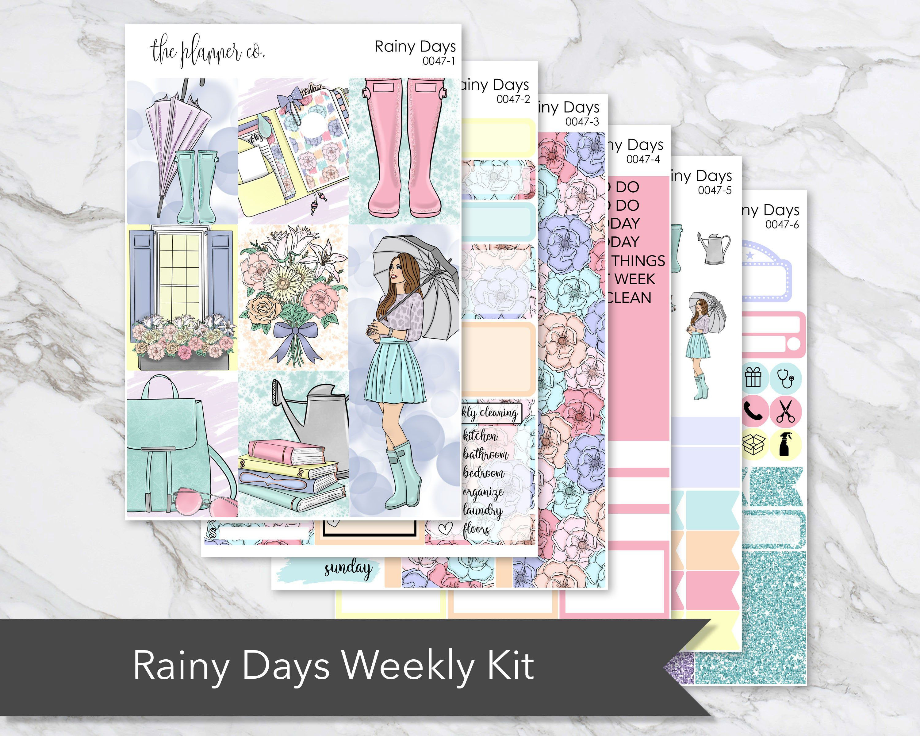 Home Vertical Weekly Kit Planner Stickers for Erin Condren Life Planners UK