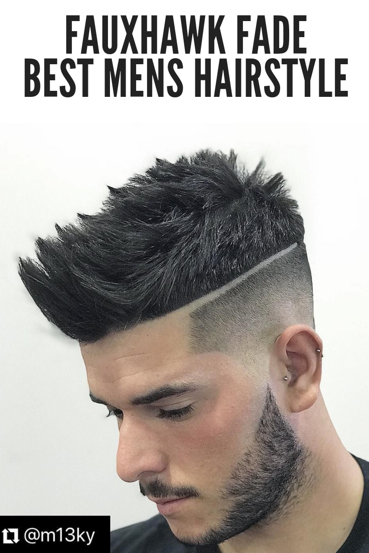 Faded mens haircuts your next haircut   fauxhawk fade mens hairstyles