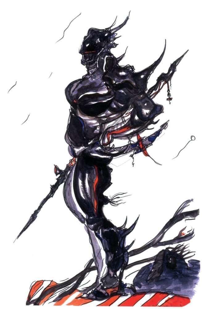 Yoshitaka Amano Cecil Harvey Final Fantasy Iv Final Fantasy Iv Final Fantasy Fantasy Concept Art