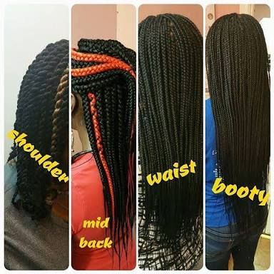 Image Result For Box Braids Size Chart Natural Hair Box Braids Sizes Long Box Braids Box