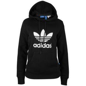 605bbab7cd86  49 adidas Originals Trefoil Hoodie - Women s - Black White ...