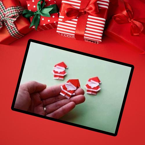 طريقة صنع بابا نويل من الورق الملون بطريقة سهلة وبسيطة Gift Wrapping Gifts Holiday