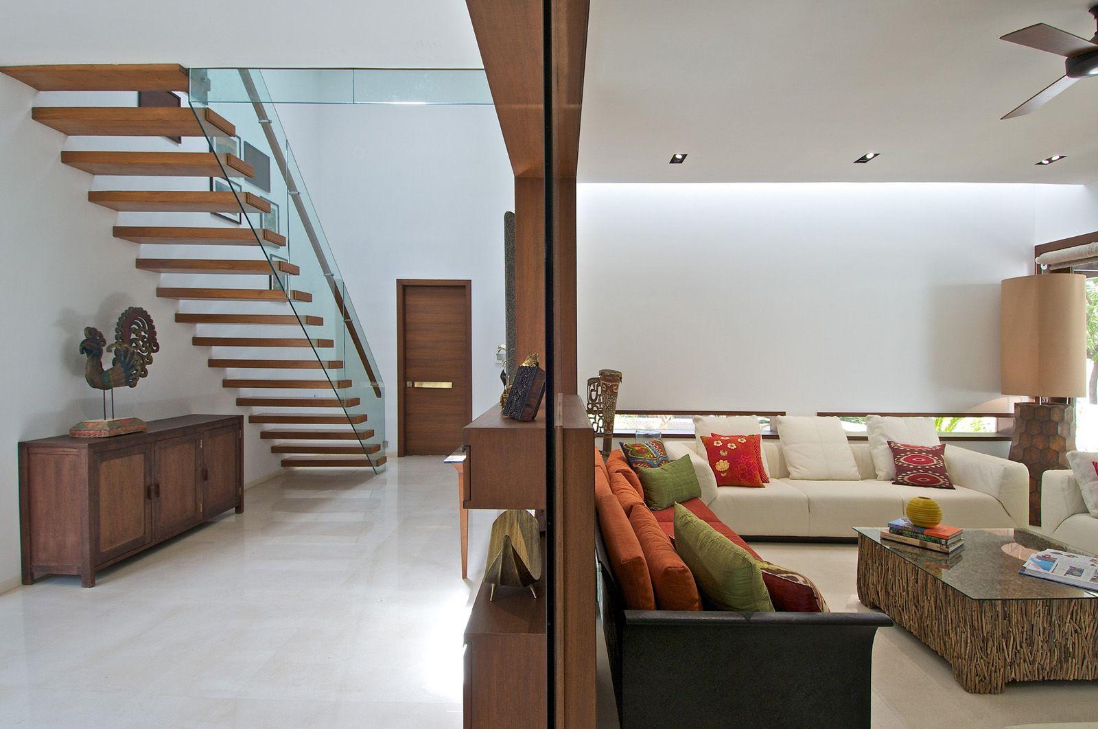 Timeless Contemporary House In India With Courtyard Zen Garden ...