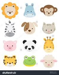 Resultado De Imagen Para Caras De Cerditos Animados Baby Animals Cartoon Animals Cute Animal Illustration