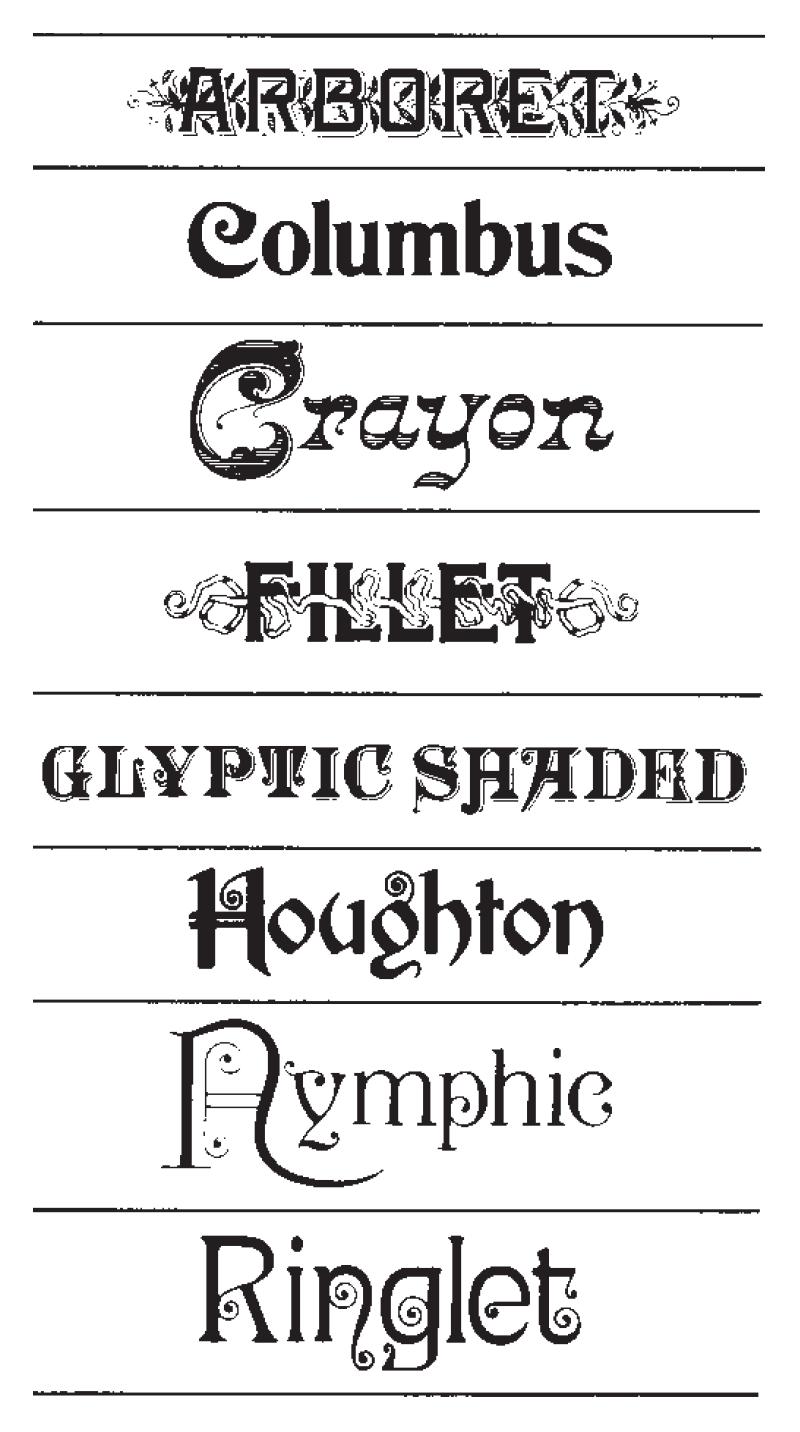 Victorian Typefaces By Herman Ihlenburg Victorian Fonts Vintage Typography Design Lettering