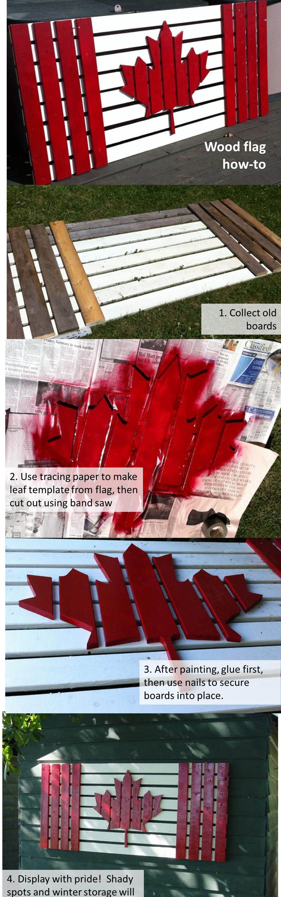 wood wall art how to make a canadian flag using old boards paint