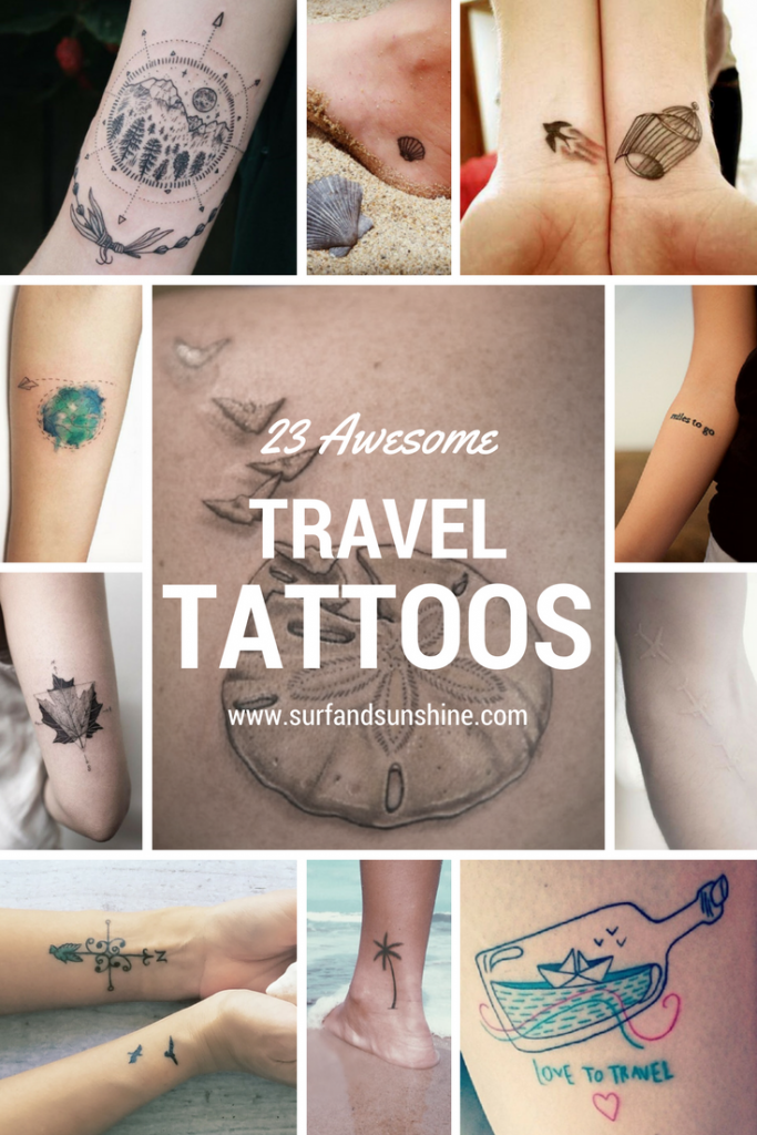 9b7c6a99c From clean and simple to completely innovative, here are 23 Inspiring  #Travel #Tattoo Ideas via @jeanabeena