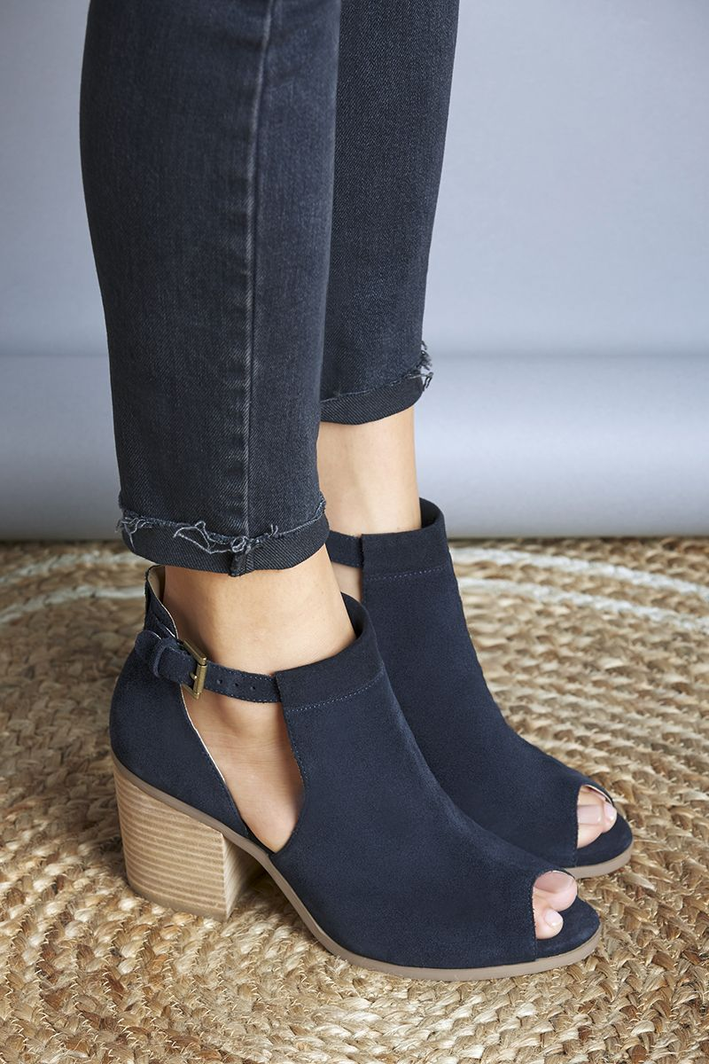 Versatile suede cutout booties that transition perfectly from summer to  fall. Style them with jeans 596314797427