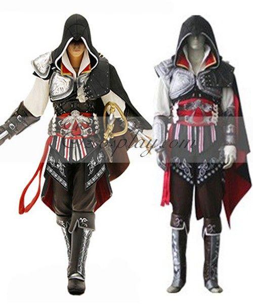 Assassin's Creed II Ezio Black Edition Cosplay Costume