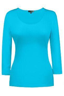Judy P 3/4 Sleeve Scoop Neck Top