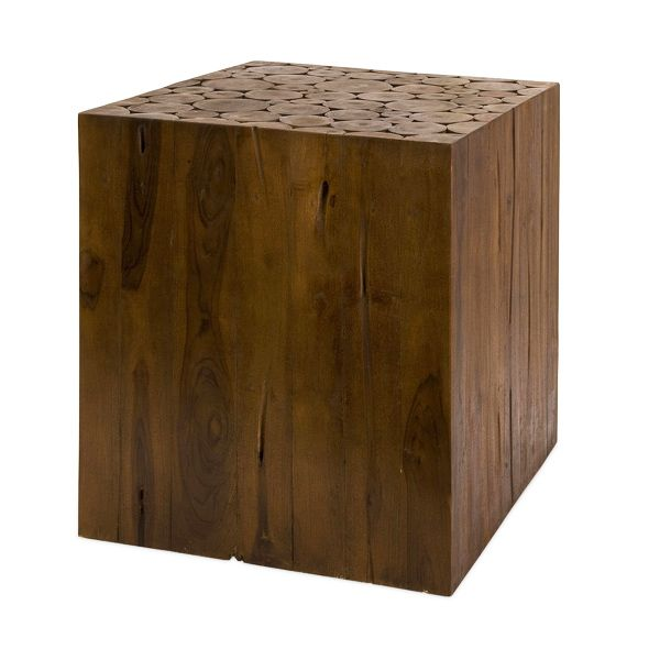 Teak Cube Table Great Price At 150 Wood Block Side