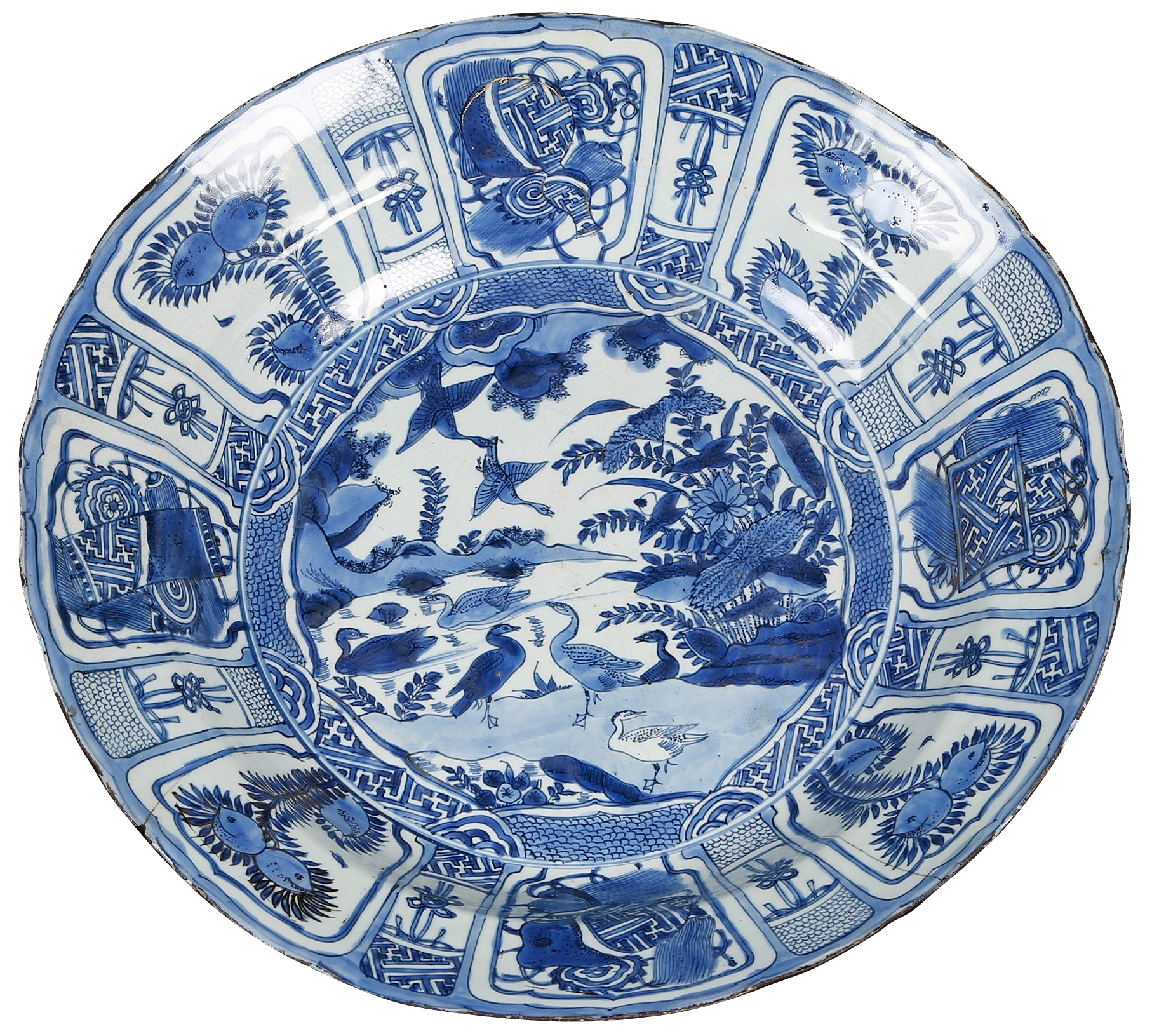 A chinese kraak porcelain charger decorated with ducks wanli period a chinese kraak porcelain charger decorated with ducks wanli period very large blue fandeluxe Image collections