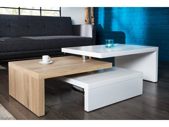 Table Basse Design Hubic Laquee Blanc Brillant Plateau Pivotant Table Basse Table Basse Design Table Basse Design Pas Cher