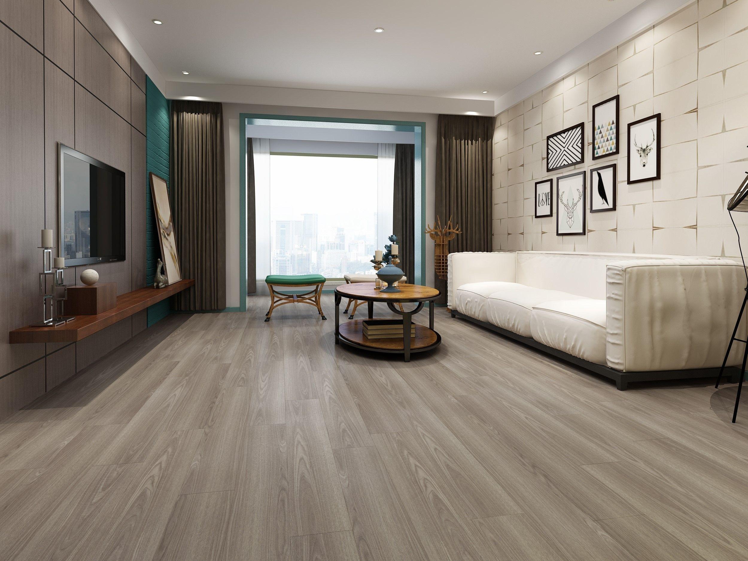 Driftwood Grey Luxury Vinyl Flooring Living Room