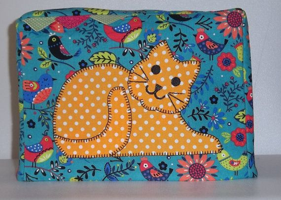 Polka Dot Kitty Toaster Cover 2 Slice Toaster by PatsysPatchwork