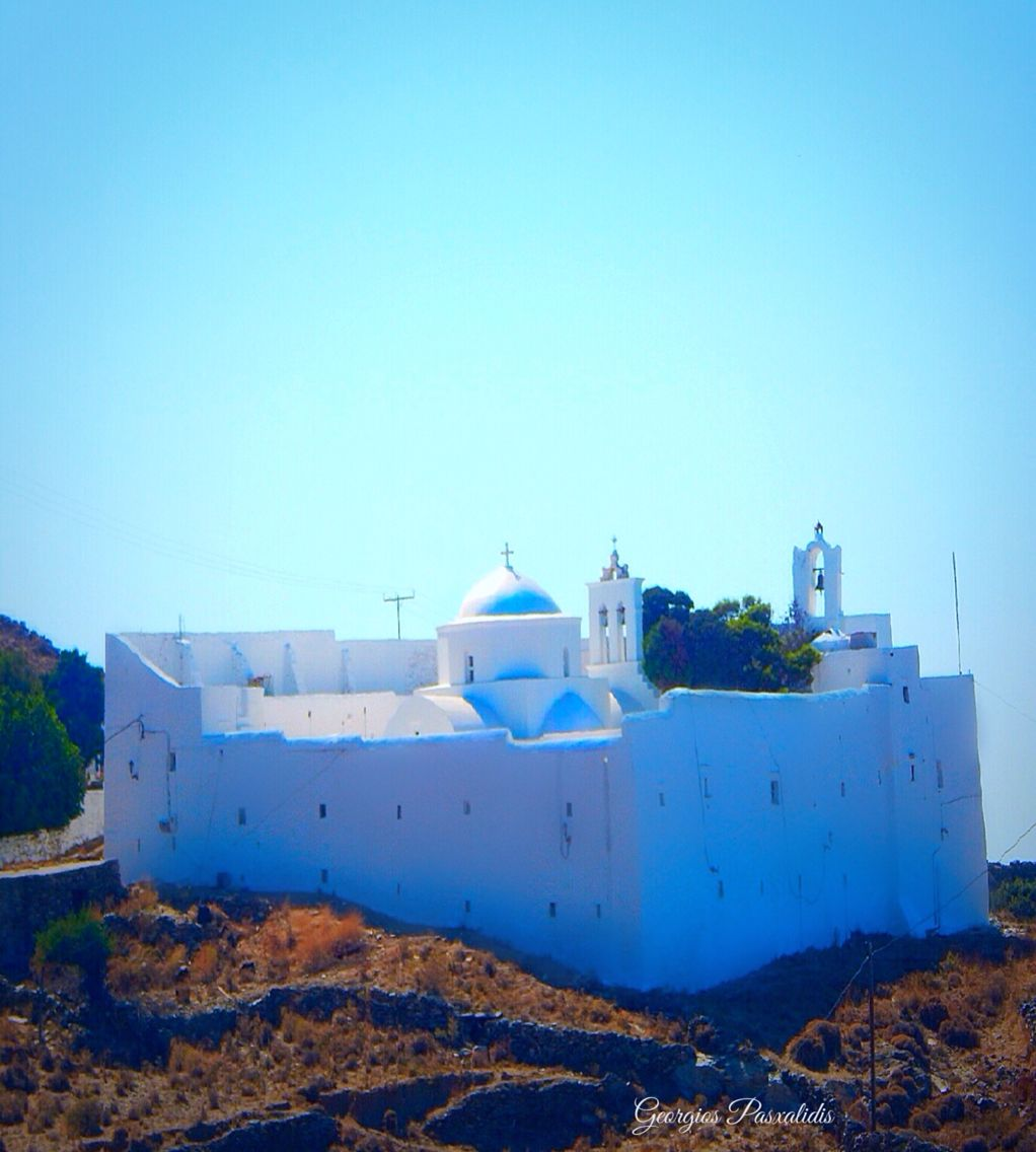 SERIFOS IN CYCLADES ISLANDS.....TAXIARCHIS MONASTERY.....GREECE .......