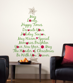 Christmas Wall Quotes Wall Christmas Tree Christmas Wall Stickers Christmas Wall Decal