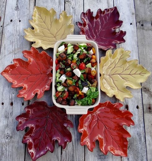 ...a quiet life...: forest feast salads... Butternut Caprese, a fall version of the classic caprese!