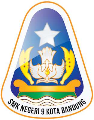 Logo Smk Negeri 9 Bandung Lencana Desain Logo Seni