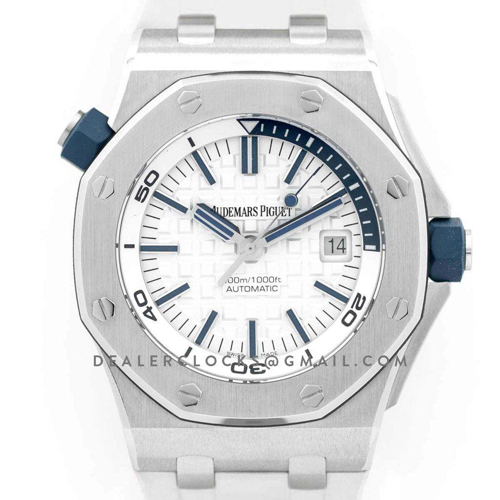 AP Royal Oak Offshore Diver Steel White Dial 15710ST SIHH 2017 replica – Dealer Clocks