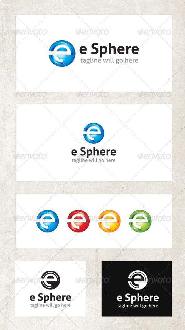 Esphere Logo Graphicriver Features Cmyk Settings Eps Files 100 Vector 3d Amp 4 Color Version Logo Templates Custom Logos Lettering