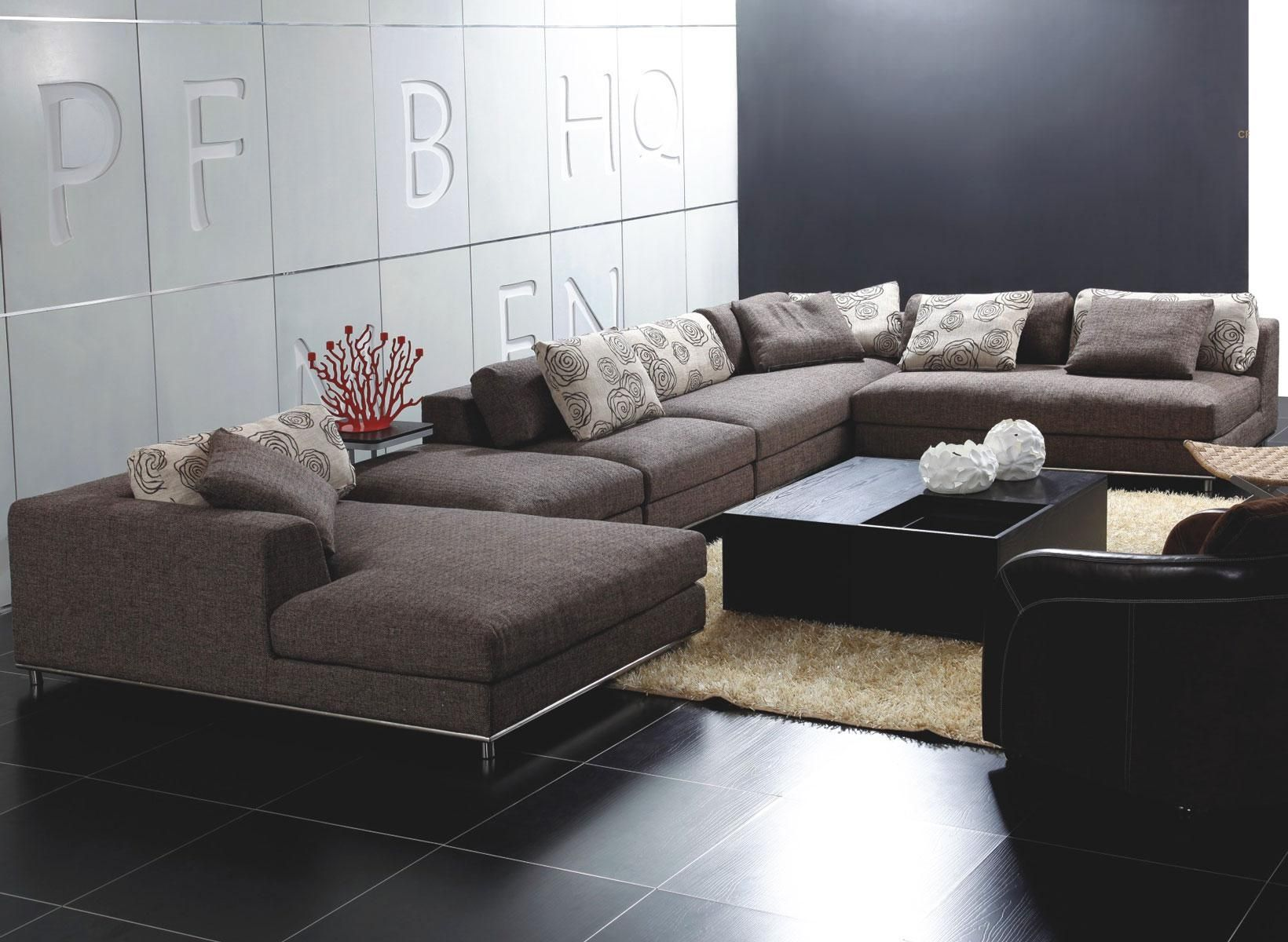 Customized Modern Reclining Sectional Sofas In 2020 Modern Sofa