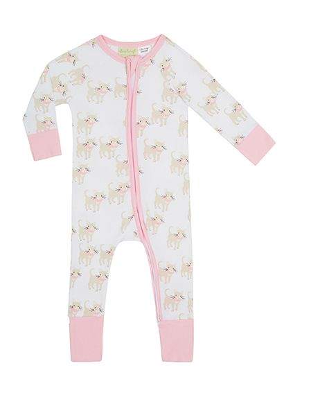 ea8ede0a5 Designer Baby Clothing - Baby Girls Sapling El Gato Zip Romper - Funky,  stylish and super soft! The gorgeous El Gato baby zip romper is made from  100% GOTS ...