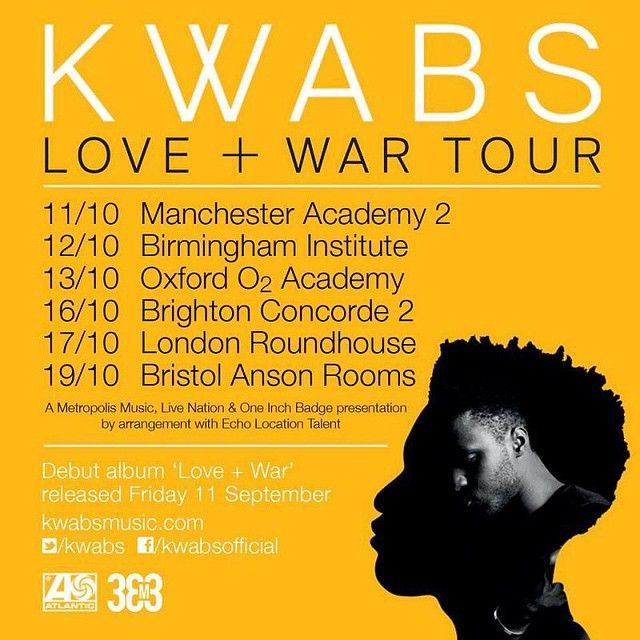 Kwabs UK Autumn Tour