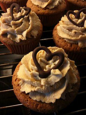 Lakridscupcakes med hvid chokolade