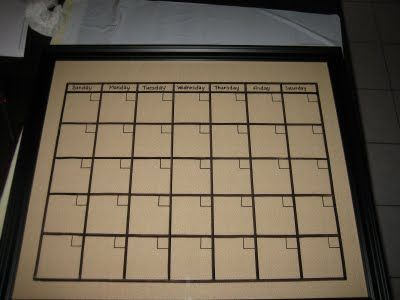 Do it yourself dry erase calendar diy crafts that i love do it yourself dry erase calendar diy crafts that i love pinterest dry erase calendar organizations and craft solutioingenieria Image collections