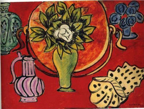 Henri Matisse (1869 - 1954) | Expressionism | Still Life with a Magnolia - 1941