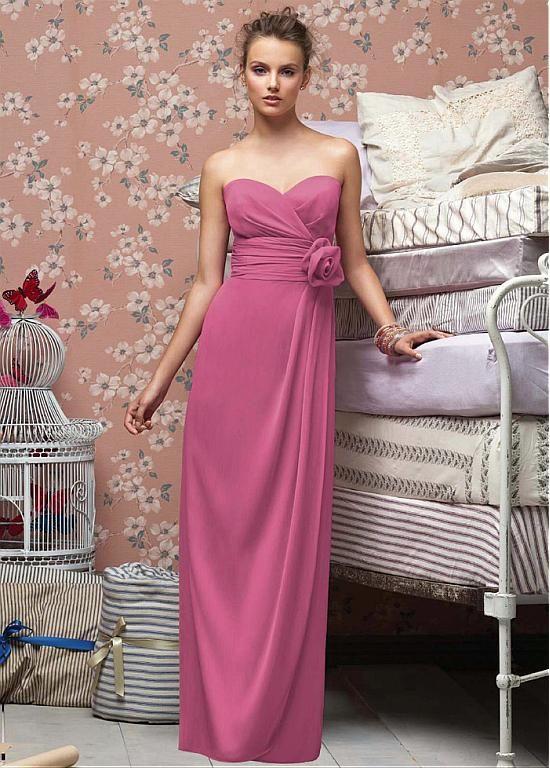 Dressilyme Stunning Chiffon Sheath Sweetheart Bridesmaid Dress ...