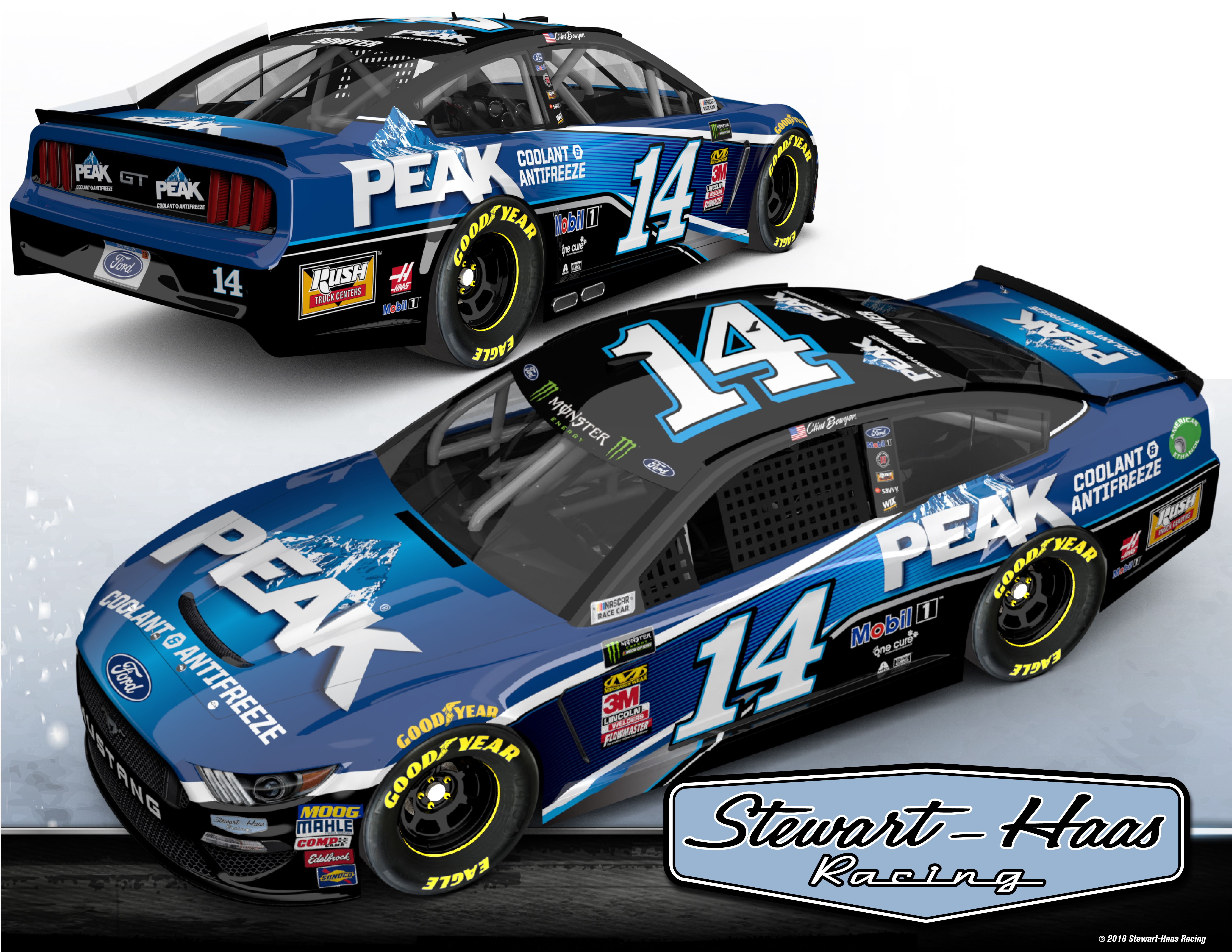 Clint Bowyer S 2019 Paint Scheme Released Peak Antifreeze