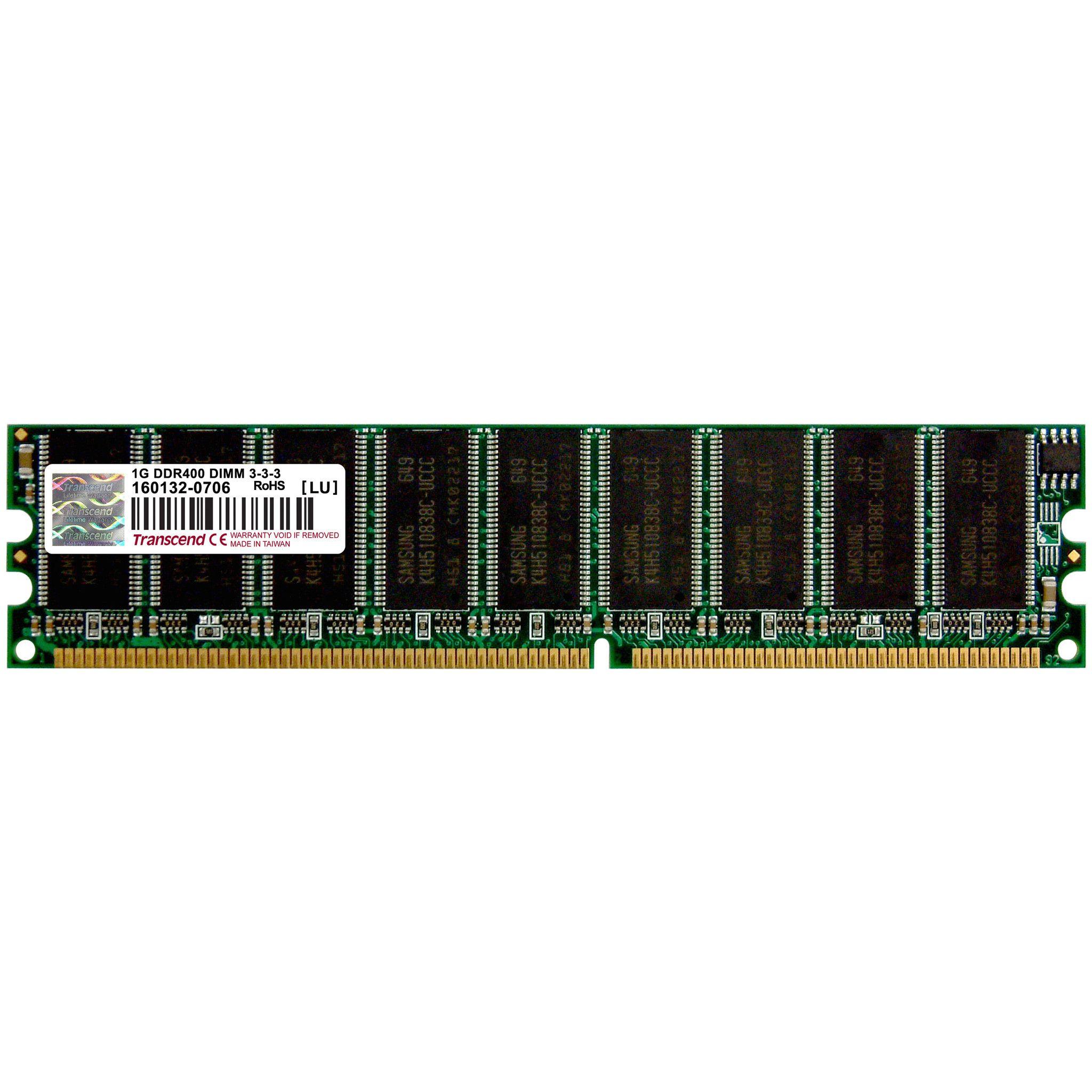 Transcend 256MB DDR 400 U-DIMM 1Rx8