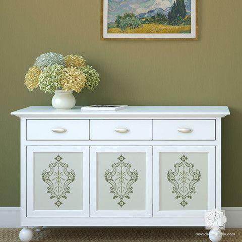 Pintura muebles con diseños clásicos italianos - Villa Plantillas de ...