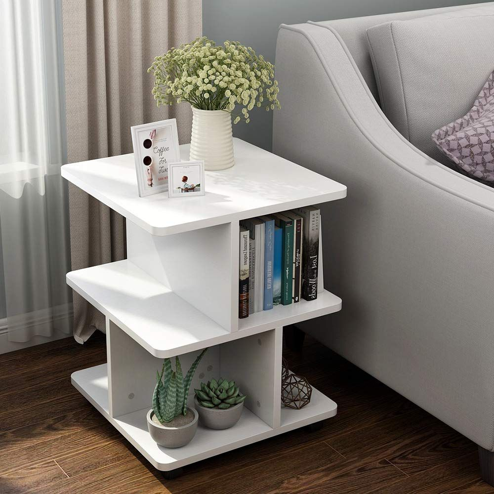 Amazon Com Little Tree Modern Side End Table For Living Room 3