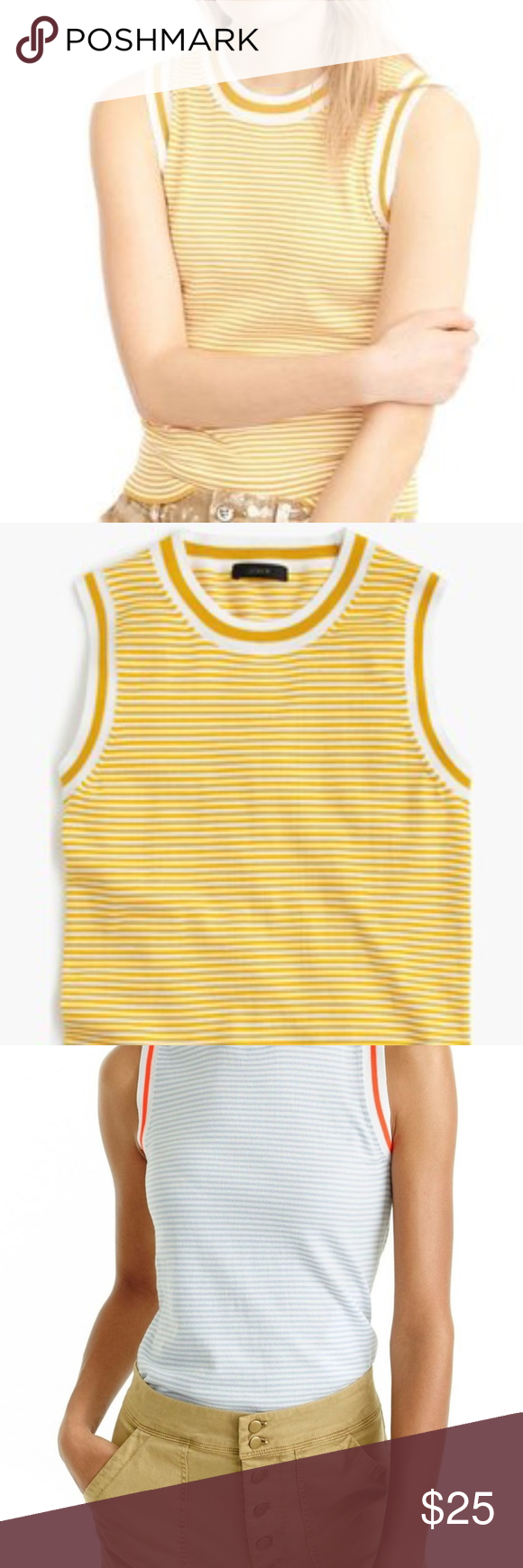 NWOT Jackie Striped Yellow Sweater Vest | Yellow sweater, Sporty ...
