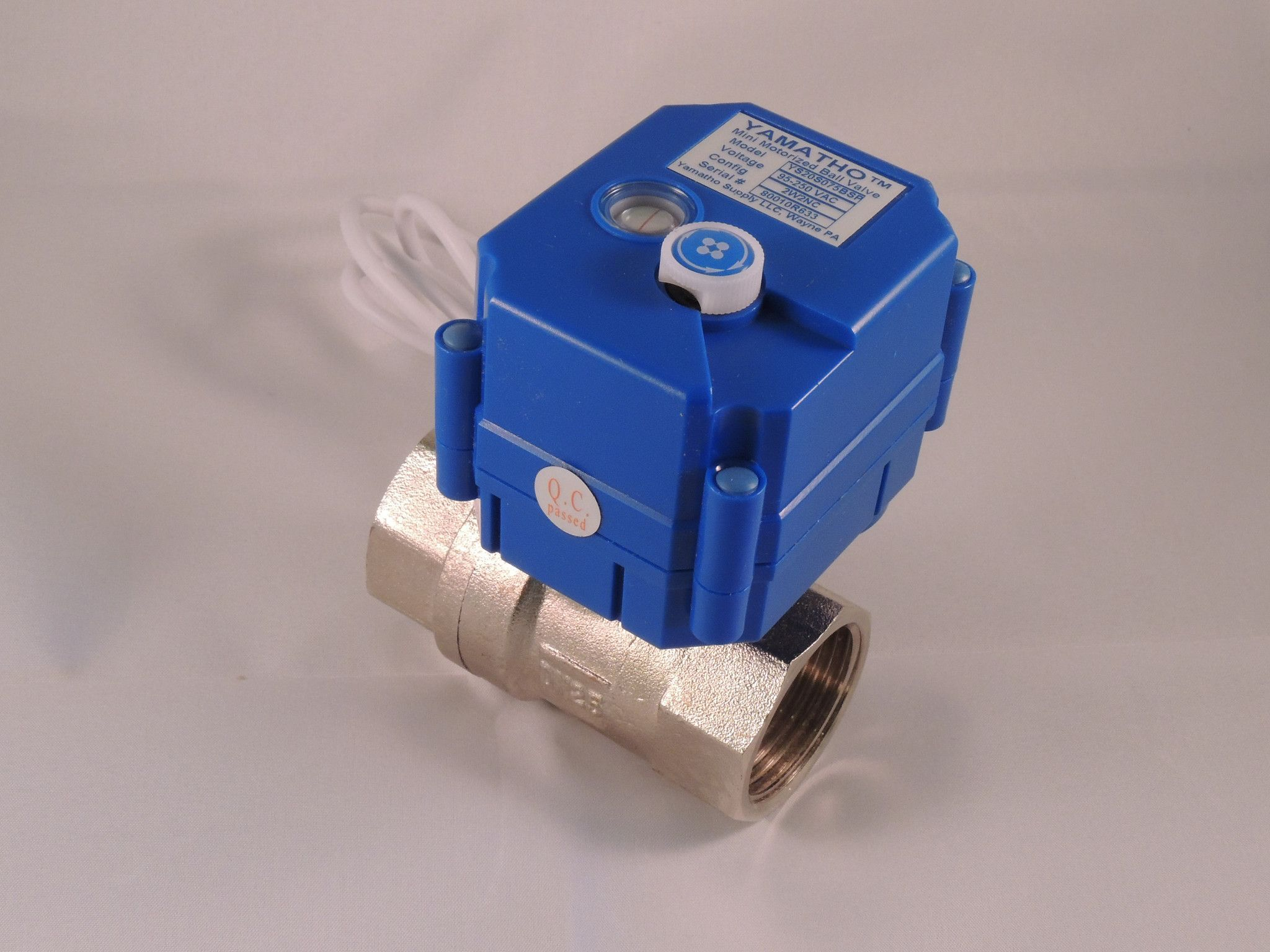 Electric Ball Valve Ys20s 2 Wires Actuator 95 250 Vac Yamavalve Wire Wiring Electrically Operated Control