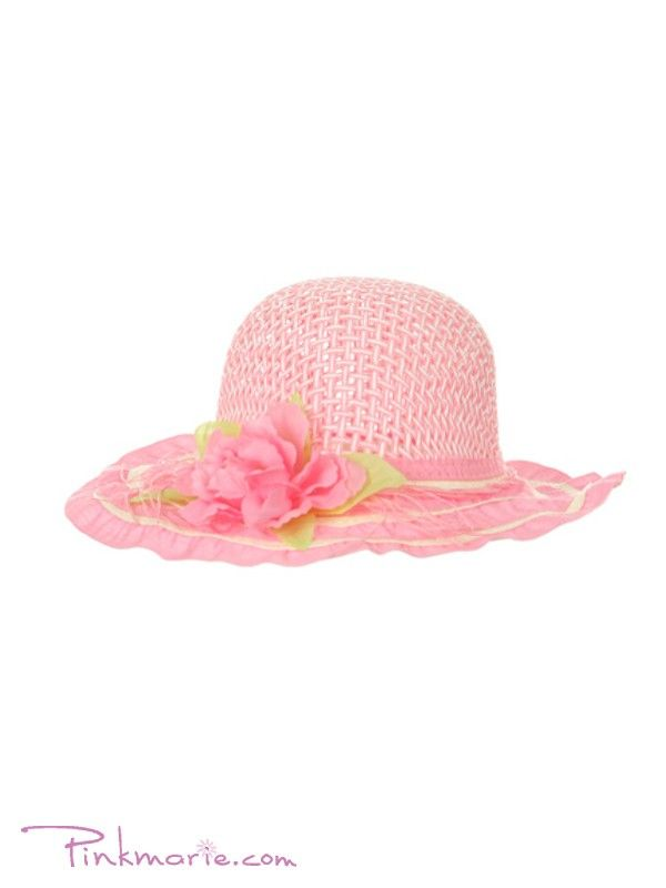 Pink Tea Party Hat with Flower