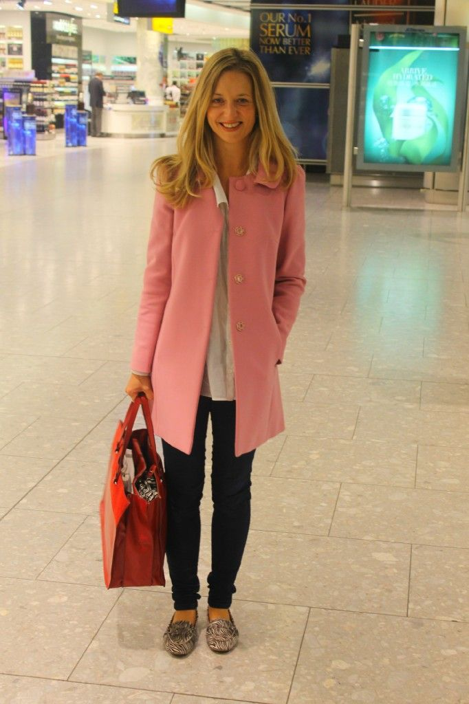 the early bird in a pink coat from Red Valentino