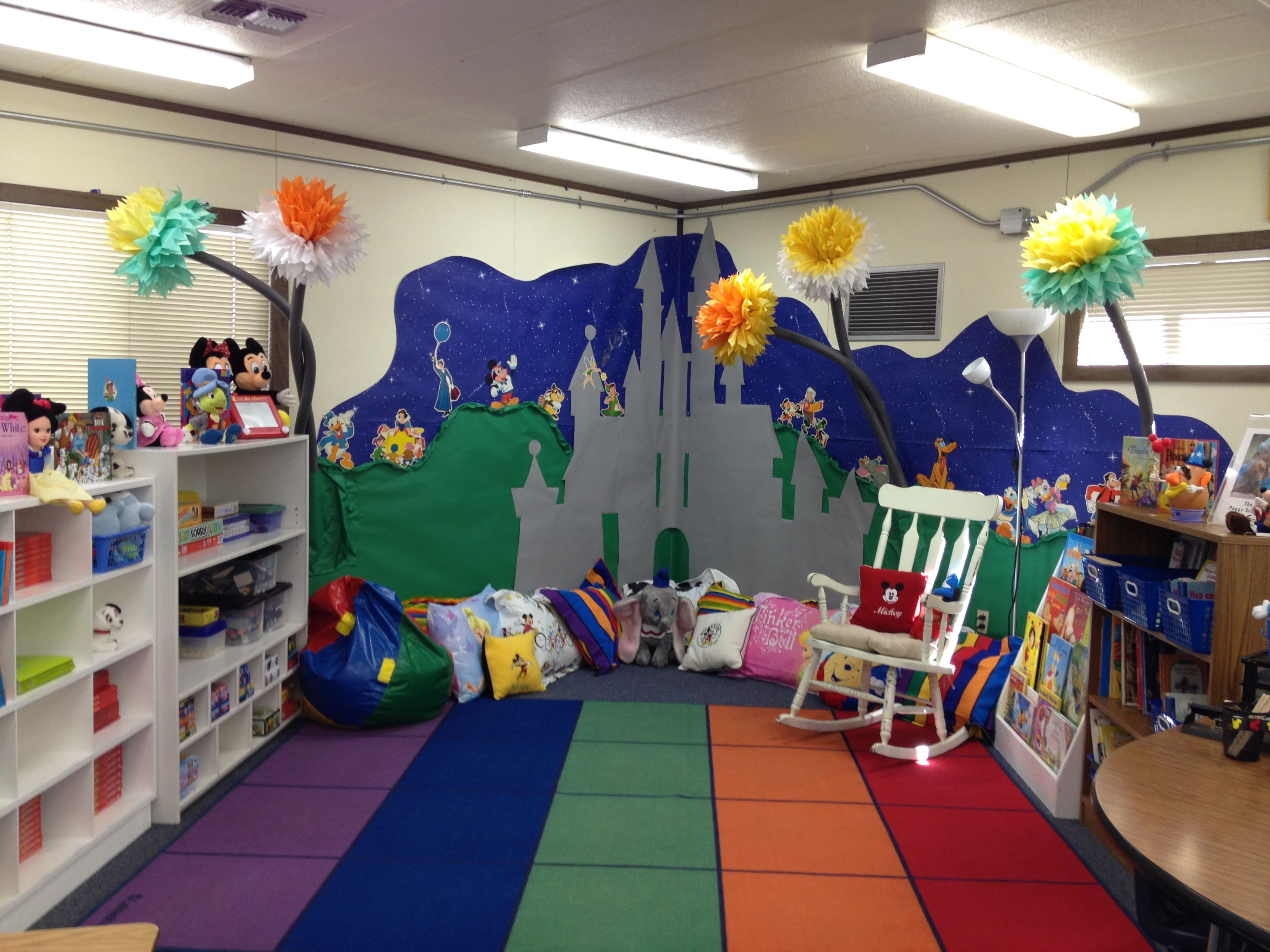 Classroom Decoration Disney ~ The reading center of classroom all disney