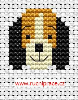 Dog head - free cross stitch pattern