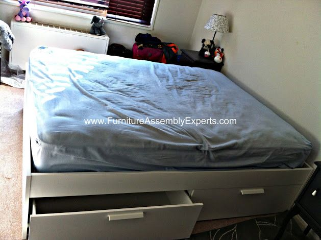 Ikea Brimnes Bed Frame With Storage Assembled In Washington Dc By Furniture Assembly Experts Company Furniture Assembly Furniture Bed Frame With Storage