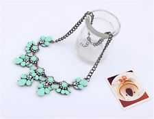 Women Mint Green Resin Crystal Collar Adjustable Charming Necklace collier
