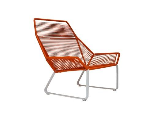 Cord Lounge Chair Handmade In Los Angeles Materials Vinyl Cording Powder Coated Steel Tubing Dimensions 34 W X 21 D 1 2 H Seat Height 13