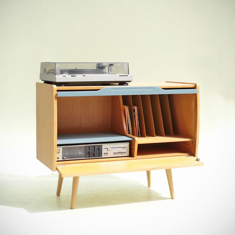 Meuble Hifi Vintage Rangement Vinyle Meuble Vinyle Meuble Hifi