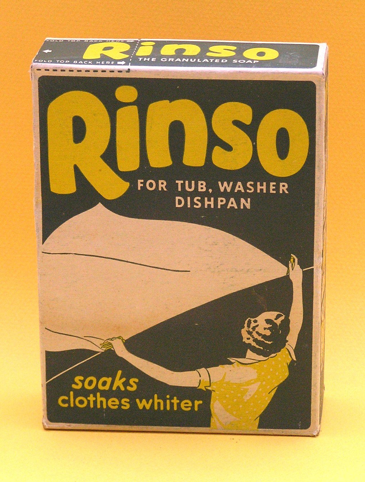 Vintage Rinso soap box